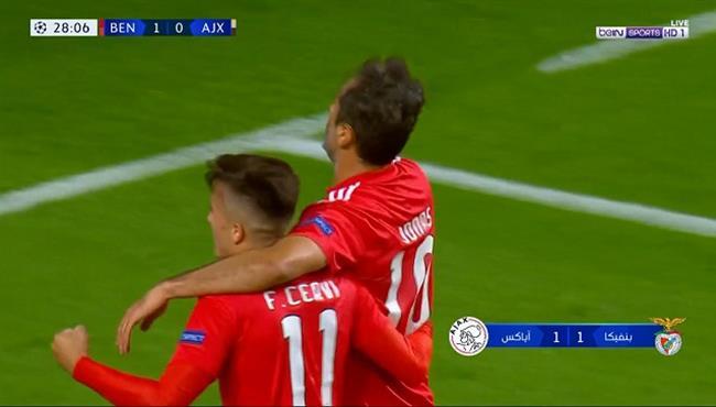 اهداف مباراة بنفيكا واياكس (1-1) دوري ابطال اوروبا