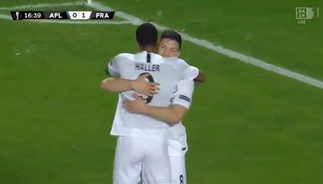 اهداف مباراة اينتراخت فرانكفورت وابولون ليماسول (3-2) الدوري الاوروبي