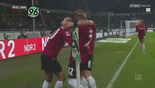 اهداف مباراة هانوفر وفولفسبورج (2-1) الدوري الالماني