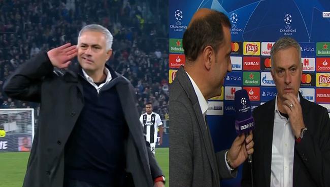 مورينيو يكشف سبب مافعله بعد مباراة يوفنتوس ومانشستر يونايتد