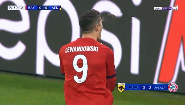 اهداف مباراة بايرن ميونيخ وايك اثينا (2-0) دوري ابطال اوروبا