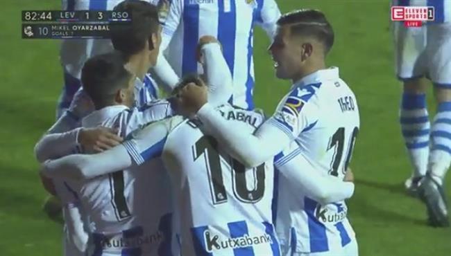 اهداف مباراة ريال سوسيداد وليفانتي (3-1) الدوري الاسباني