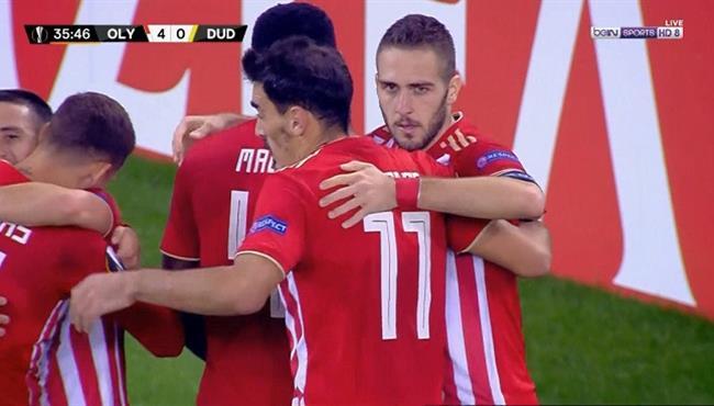 اهداف مباراة اولمبياكوس ودوديلانج (5-1) الدوري الاوروبي