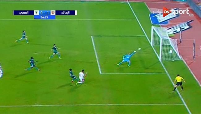 القائم يحرم حمدي النقاز من تسجيل هدف امام المصري