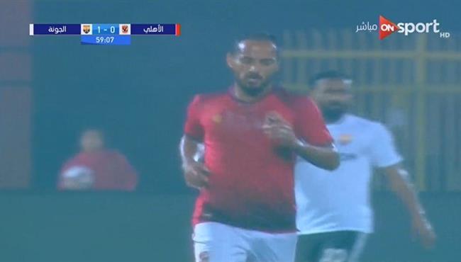 حارس الجونة يحرم وليد سليمان من تسجيل هدف عالمي
