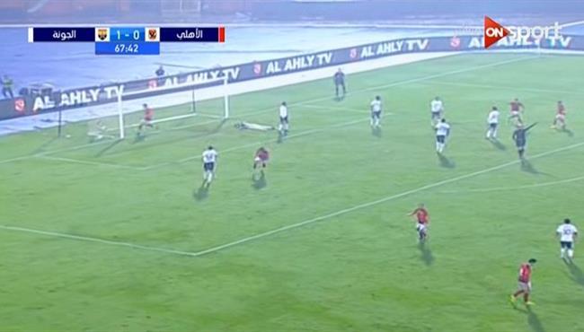 هدف تعادل الاهلي مع الجونة (1-1) احمد الشيخ