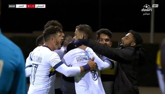 هدف النصر الثاني الرائع في مرمي الفيصلي بالدوري السعودي