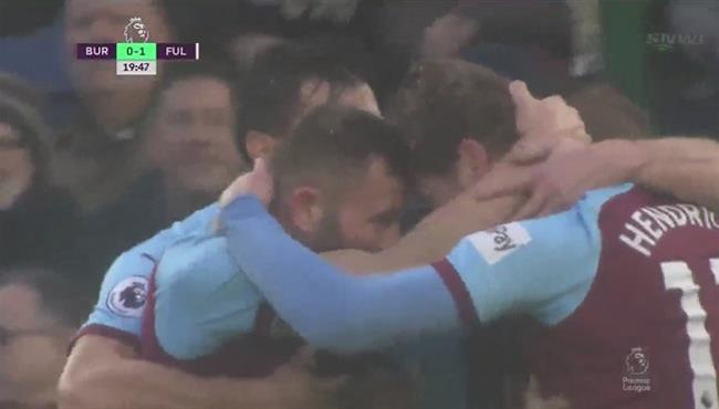 اهداف مباراة بيرنلي وفولهام (2-1) الدوري الانجليزي