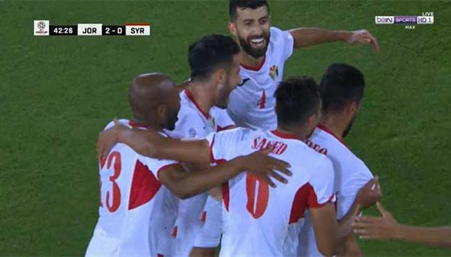 هدف الاردن الثاني في مرمي سوريا (2-0) تعليق رؤوف خليف