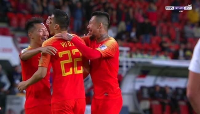 هدف الصين الثالث في مرمي الفلبين بكأس اسيا