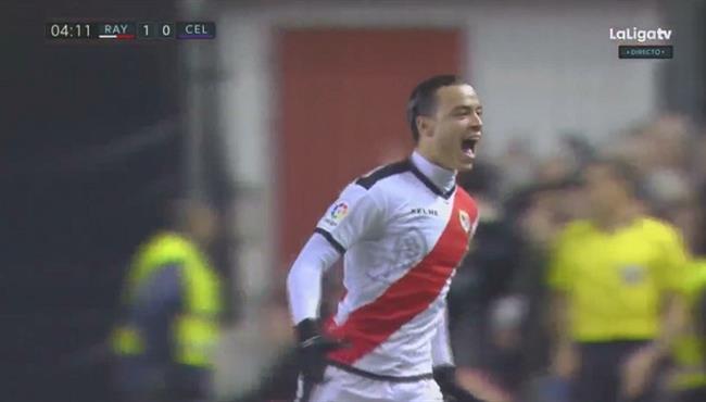 هدف رائع في مباراة رايو فاليكانو وسيلتا فيجو بالدوري الاسباني