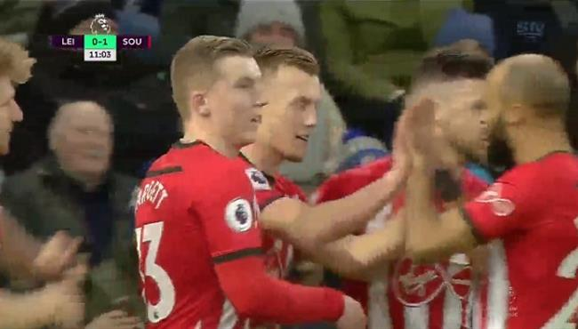 اهداف مباراة ساوثهامبتون وليستر سيتي (2-1) الدوري الانجليزي