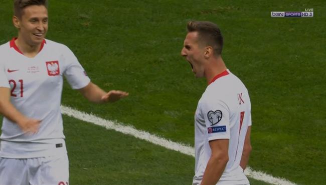 هدف ميليك الرائع في مباراة بولندا ومقدونيا