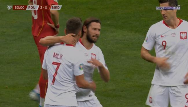 اهداف مباراة بولندا ومقدونيا 2 0 تصفيات امم اوروبا
