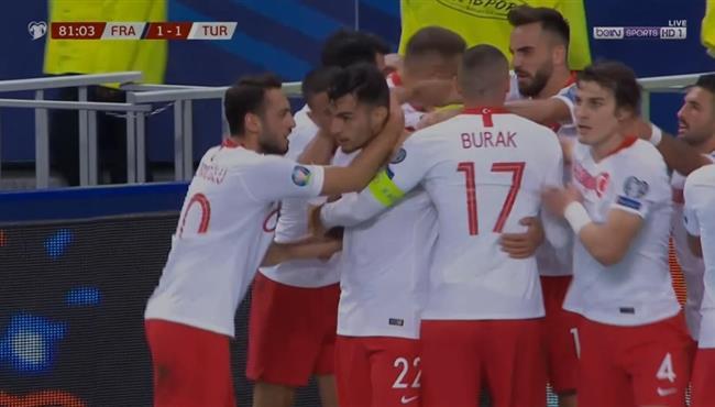هدف تعادل تركيا مع فرنسا (1-1) تعليق رؤوف خليف