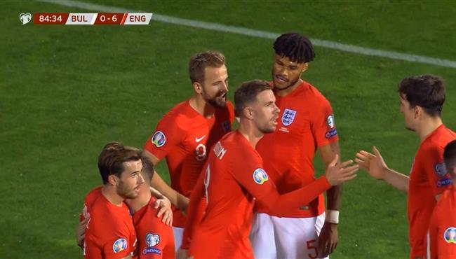 اهداف مباراة انجلترا وبلغاريا (6-0) تصفيات امم اوروبا
