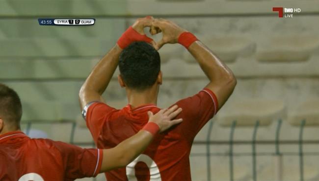 هدف عمر السومة الثاني الرائع في مرمي غوام (2-0) تصفيات كاس العالم اسيا