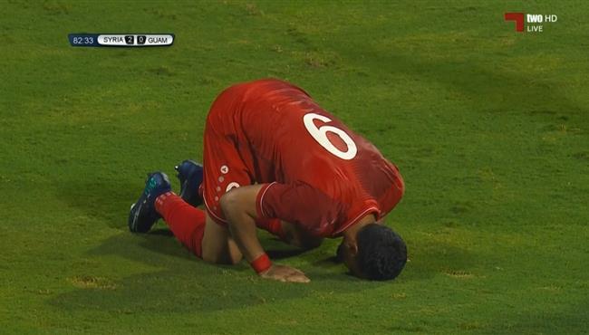 هاتريك عمر السومة في مباراة سوريا وغوام بتصفيات كاس العالم اسيا