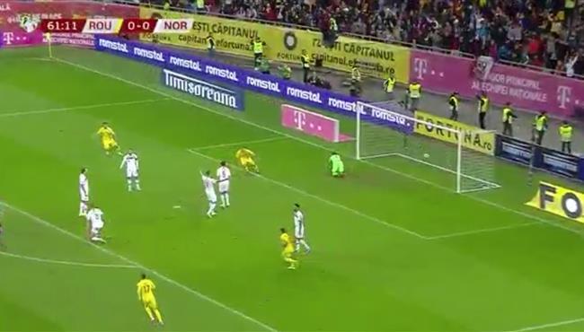 اهداف مباراة النرويج ورومانيا (1-1) تصفيات امم اوروبا