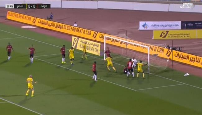 هدف النصر الاول في مرمي الرائد عبدالرزاق حمدالله