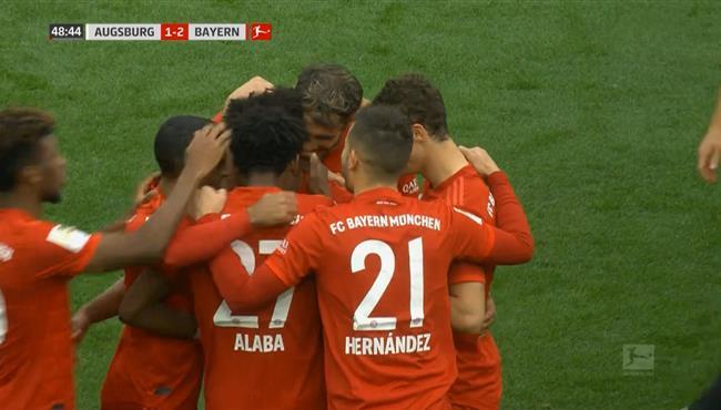 اهداف بايرن ميونيخ وأوجسبورج (2-2) الدوري الألماني