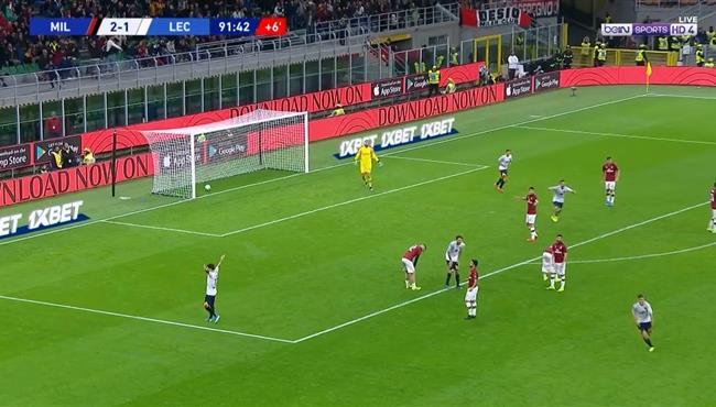 اهداف مباراة ميلان وليتشي (2-2) الدورى الايطالى