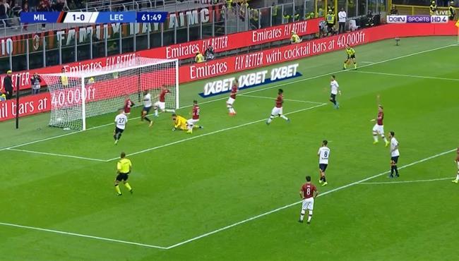 هدف تعادل ليتشي مع ميلان (1-1) الدورى الايطالى