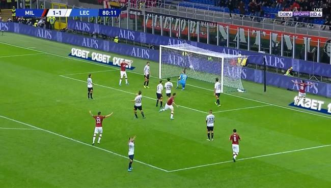 هدف ميلان الثانى فى مرمى ليتشى (2-1) الدورى الايطالى
