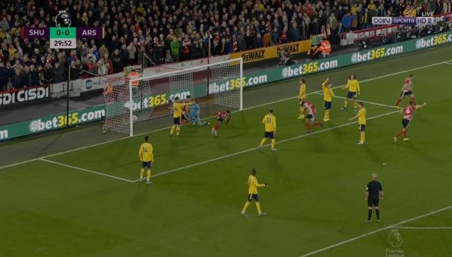 هدف فوز شيفيلد يونايتد علي ارسنال (1-0) الدوري الانجليزي
