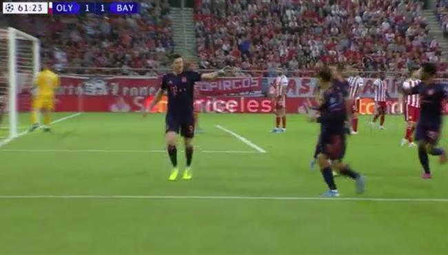اهداف مباراة بايرن ميونخ واولمبياكوس (3-2) دوري ابطال اوروبا