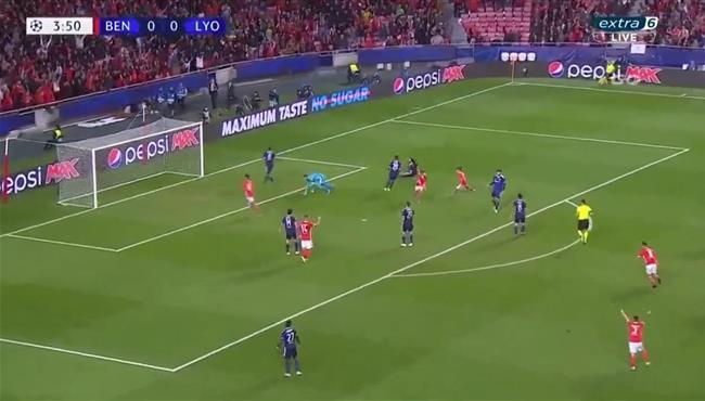 اهداف مباراة بنفيكا وليون (2-1) دوري ابطال اوروبا