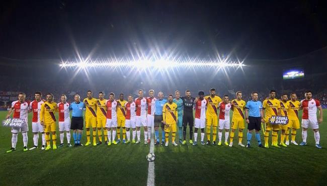 ملخص مباراة برشلونة وسلافيا براج في دوري ابطال اوروبا