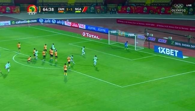 هدف نيجيريا الاوليمبي الثانى الرائع فى مرمى زامبيا كاس امم افريقيا تحت 23 عام