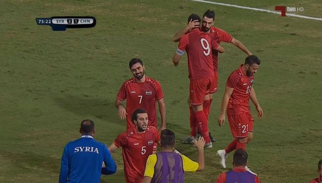 هدف سوريا الثاني في مرمي الصين بتصفيات اسيا لكأس العالم