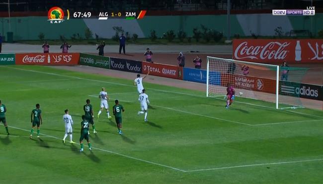 هدف الجزائر الثاني في مرمي زامبيا .. بغداد بو نجاح