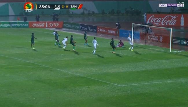 هدف الجزائر الرابع في مرمي زامبيا .. تصفيات امم افريقيا