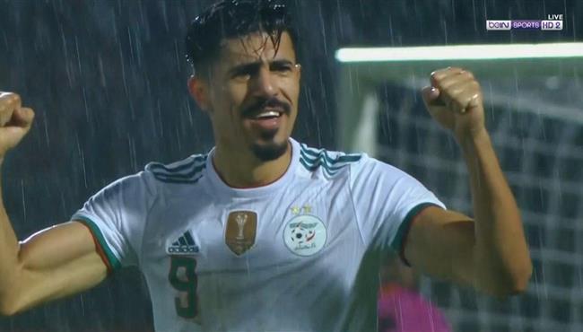 هدف الجزائر الخامس في مرمي زامبيا .. بغداد بو نجاح