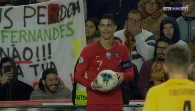 مهاراة رائعة من رونالدو في مباراة البرتغال وليتوانيا