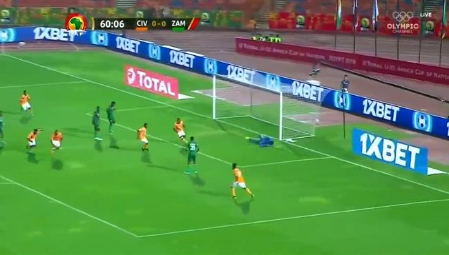 هدف فوز كوت ديفوار علي زامبيا (1-0) كاس امم افريقيا تحت 23