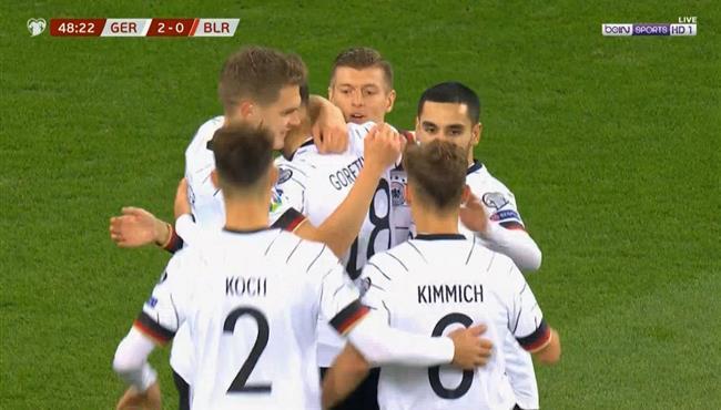 اهداف مباراة المانيا وبيلاروسيا في تصفيات امم اوروبا .. مباشر