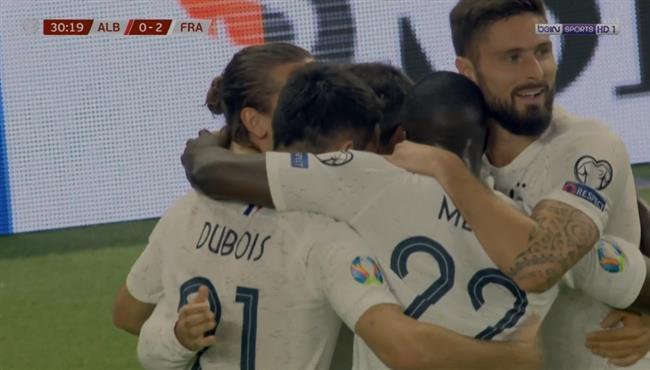 اهداف مباراة فرنسا والبانيا (2-0) تصفيات امم اوروبا