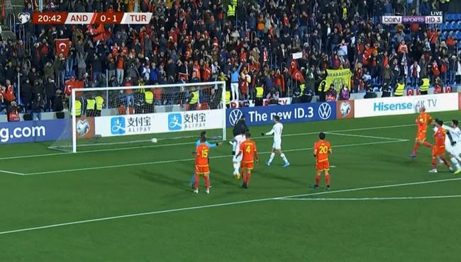 اهداف مباراة تركيا واندورا (2-0) تصفيات امم اوروبا