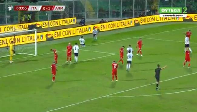 اهداف مباراة ايطاليا وأرمينيا (9-1) تصفيات امم اوروبا
