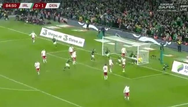 اهداف مباراة الدنمارك وايرلندا (1-1) تصفيات امم اوروبا