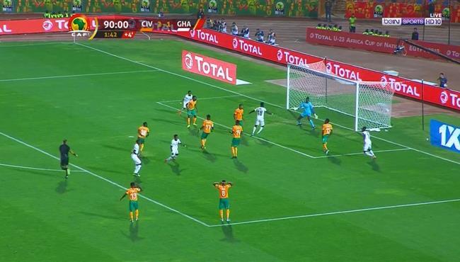 هدف تعادل غانا القاتل مع كوت ديفوار (2-2) كاس امم افريقيا تحت 23
