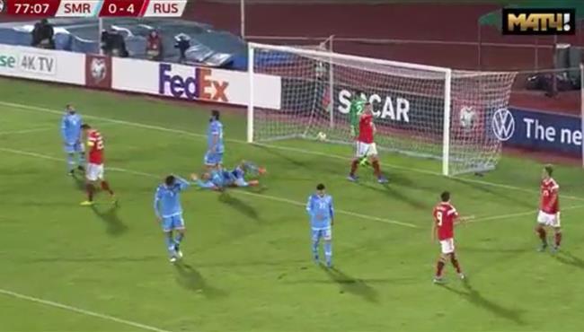 اهداف مباراة روسيا وسان مارينو (5-0) تصفيات امم اوروبا