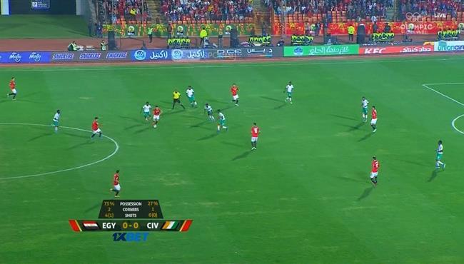 مهارة رائعه من اكرم توفيق في مباراة مصر وكوت ديفوار الاولمبي