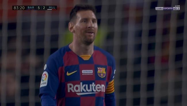 هدف ميسي الثالث في مرمى ريال مايوركا بالدوري الاسباني
