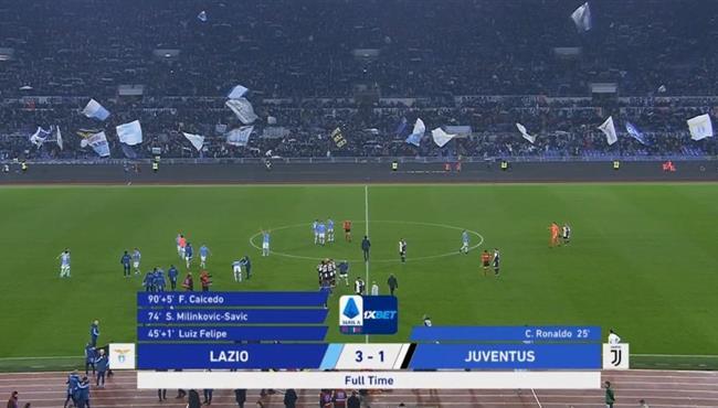 ملخص مباراة يوفنتوس ولاتسيو (1-3) الدوري الايطالي