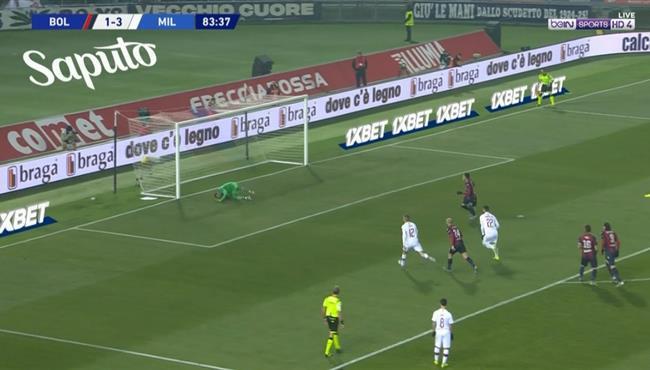 اهداف مباراة ميلان وبولونيا (3-2) الدوري الايطالى